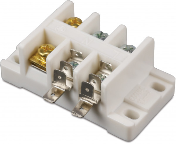 3-way wire connector white 600V~ 10mm2